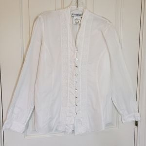 Motherhood White Blouse With Lace Size Small